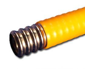 Труба газовая, гофрированная, желтая пм 20